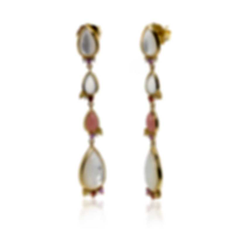 Ippolita 18k Yellow Gold Diamond And Mother Of Pearl Prisma Earrings GE1911BEGONIADIA