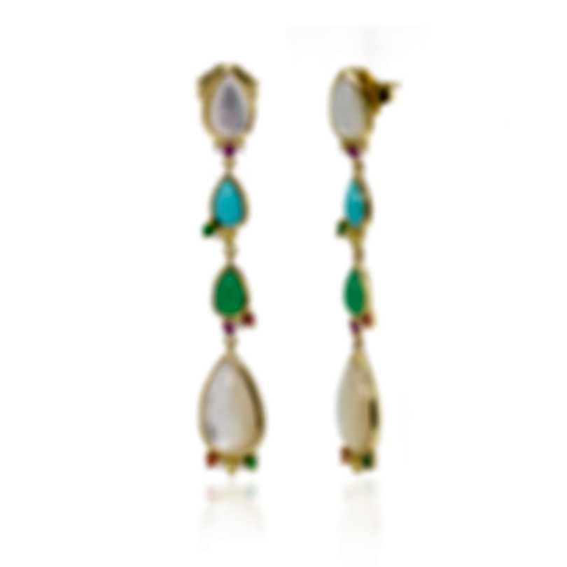 Ippolita 18k Yellow Gold Diamond And Multistone Prisma Earrings GE1911PORTOFIDIA
