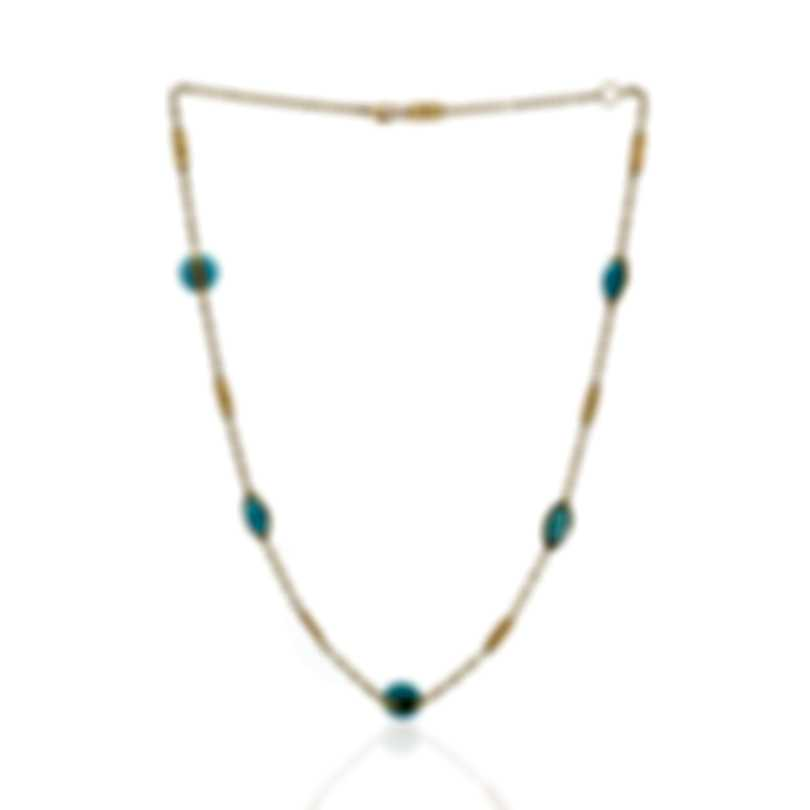 Ippolita 18k Yellow Gold And Turquoise Senso Necklace GN1186TQX18