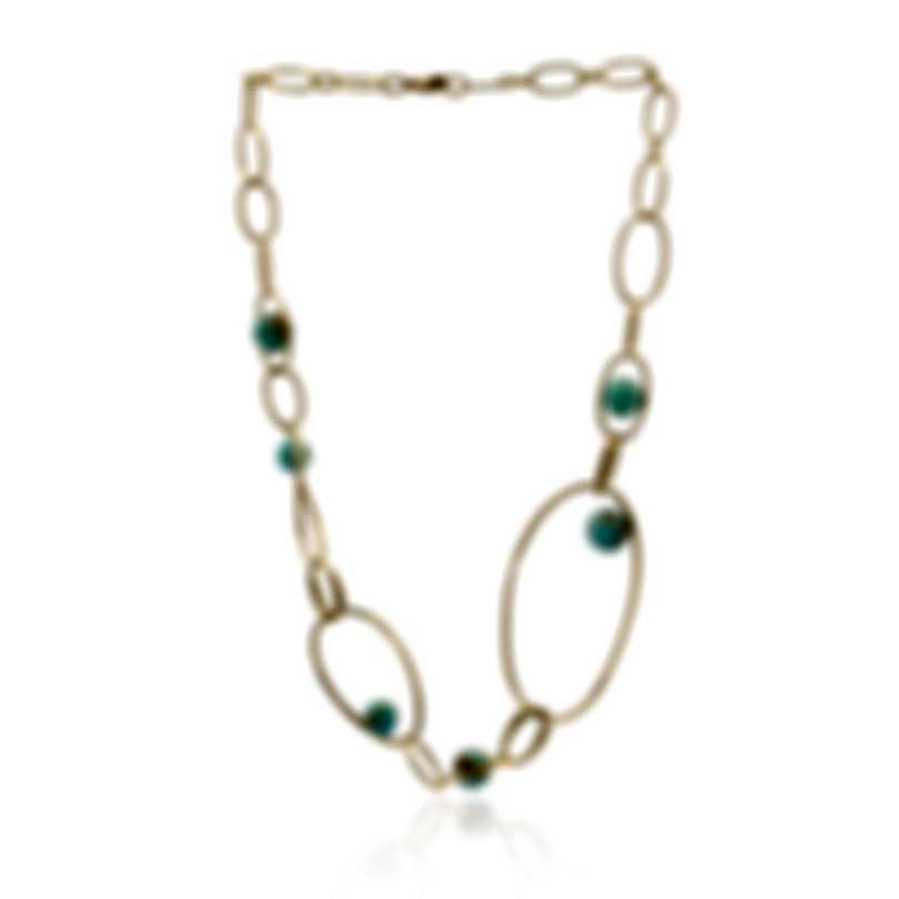 Ippolita 18k Yellow Gold And Turquoise Nova Necklace GN1410TQGM