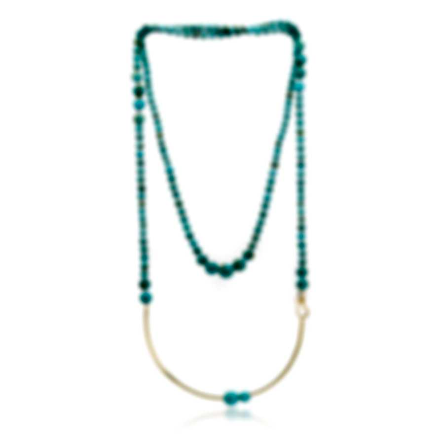 Ippolita 18k Yellow Gold And Turquoise Nova Necklace GN1415TQGM