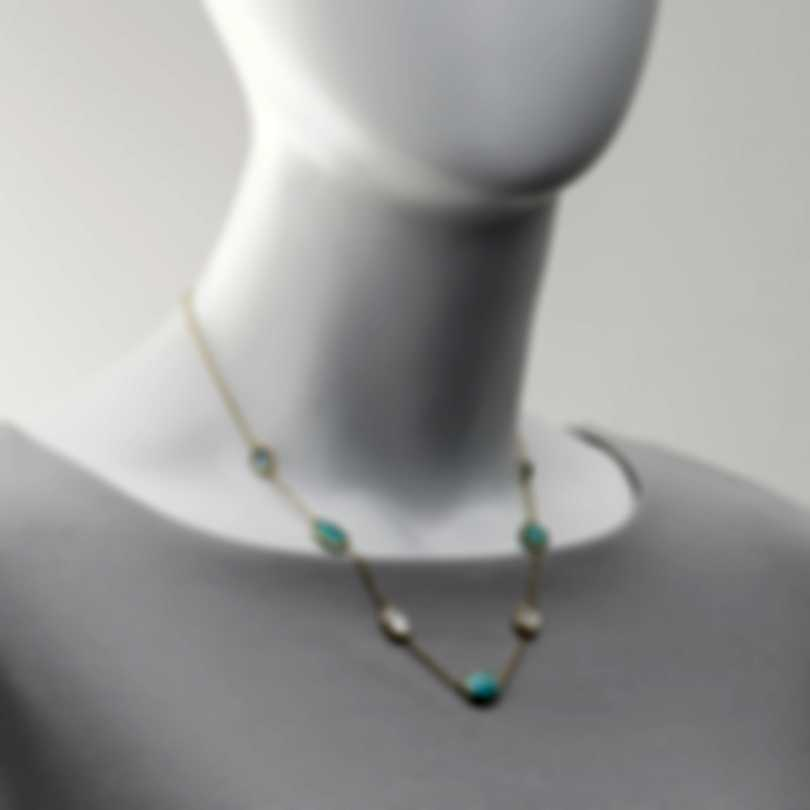 Ippolita Luce 18k Yellow Gold And Blue Topaz Necklace GN1620CASCATA