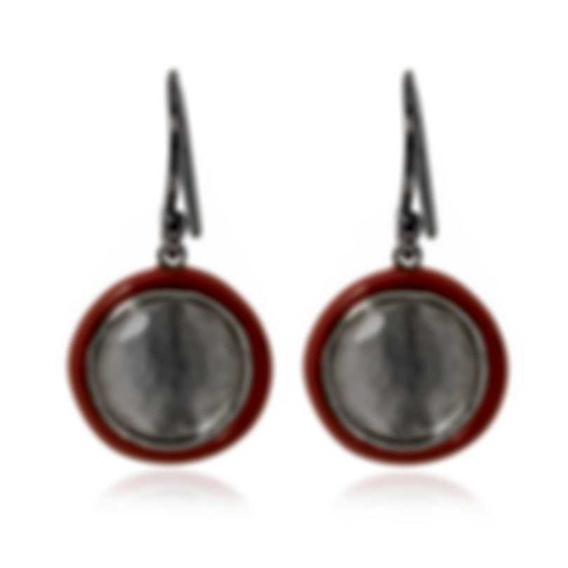 Ippolita Lollipop Sterling Silver Ceramic Mother Of Pearl Earrings SE2360DFMOPCP