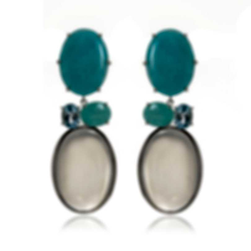 Ippolita Rock Candy Sterling Silver And Rock Crystal Earrings SE2478CASCATA