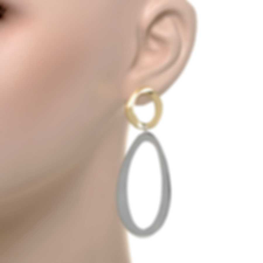 Ippolita Chimera Sterling Silver And 18k Yellow Gold Earrings SGE2323