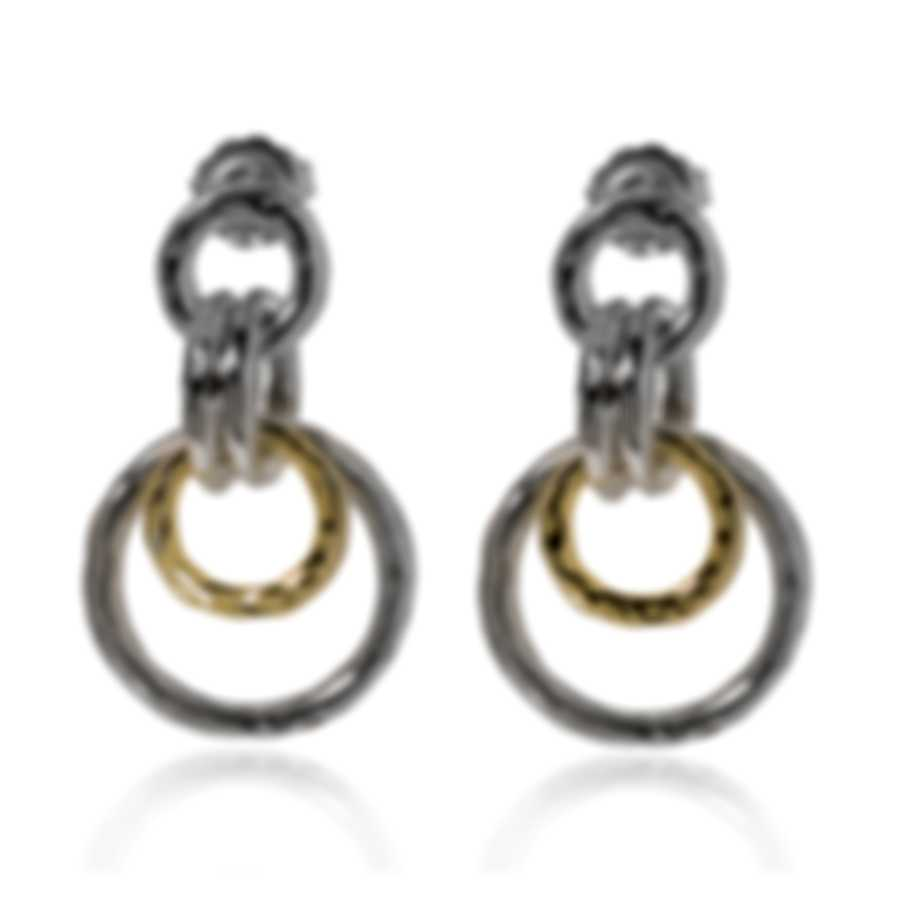 Ippolita Chimera Sterling Silver And 18k Yellow Gold Earrings SGE2344