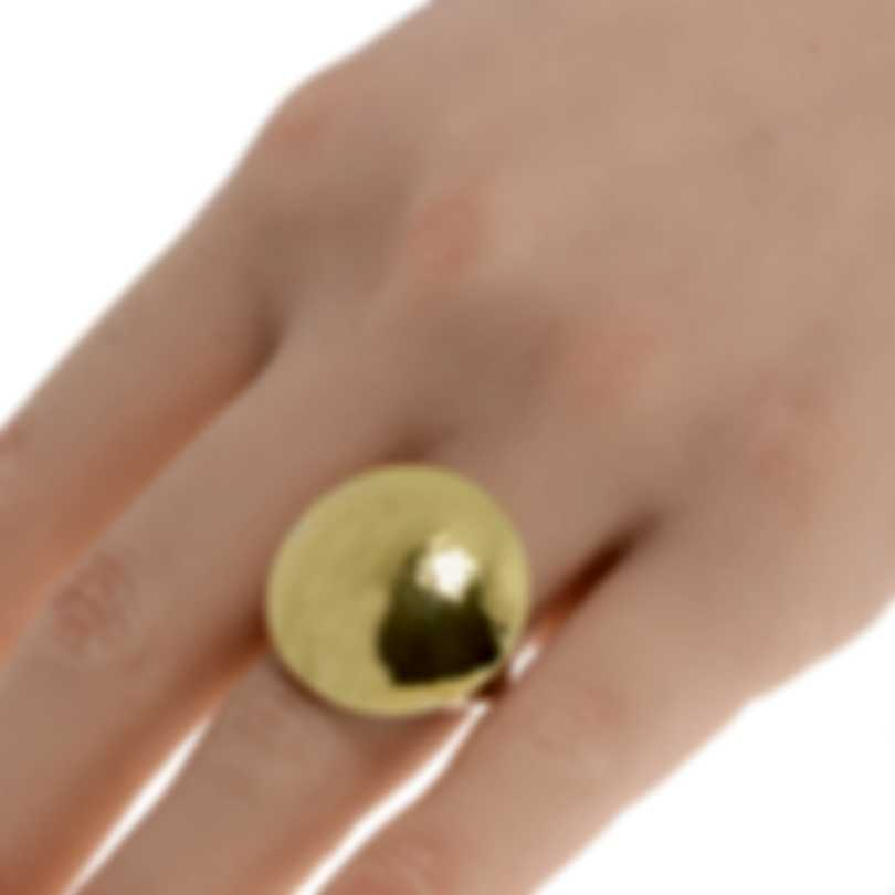 Ippolita Chimera Sterling Silver And 18k Yellow Gold Ring Sz 7 SGR982