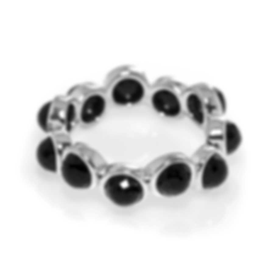 Ippolita Lollipop Sterling Silver And Black Onyx Ring Sz 7.5 SR998NX-7.5