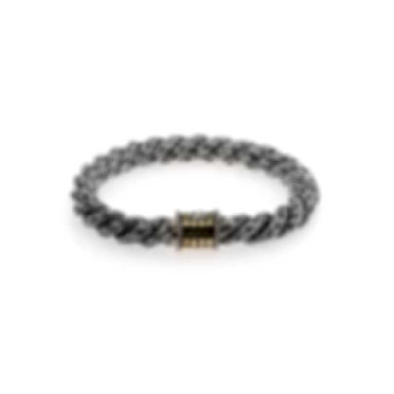 John Hardy Sterling Silver And 18k Yellow Gold Dot Bracelet BB9484GCAXM