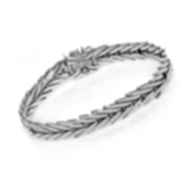 John Hardy Modern Chain Sterling Silver Diamond 0.09ct Bracelet BBP932692DIXM