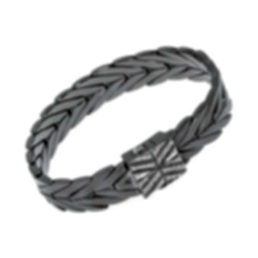 John Hardy Chain Sterling Silver Diamond 0.19ct Bracelet BBP932702BHBRDDIXS