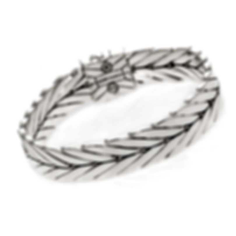 John Hardy Modern Chain Sterling Silver Diamond 0.19ct Bracelet BBP932702DIXM