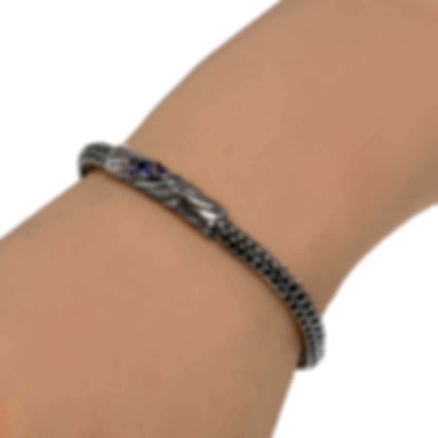John Hardy Lahar Sterling Silver And Blue Sapphire Bracelet BBS440034BSPXM