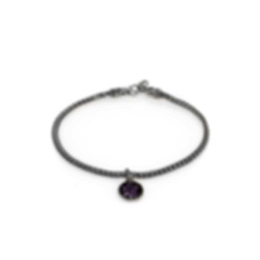John Hardy Classic Chain Sterling Silver And Amethyst Bracelet BBS903904AMXM