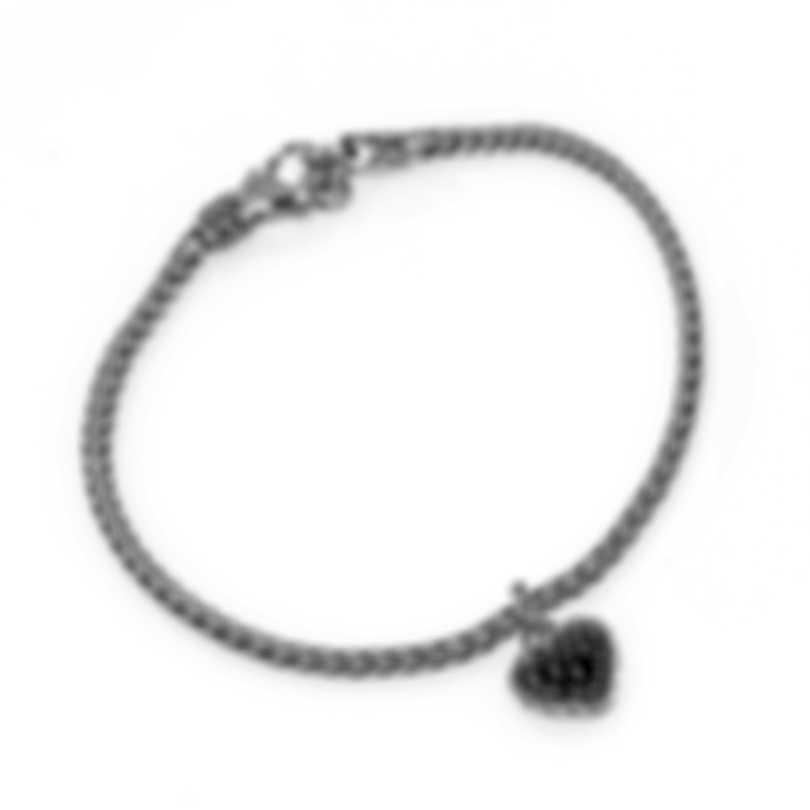 John Hardy Classic Chain Sterling Silver Black Spinel Bracelet BBS903914BLSBNXM