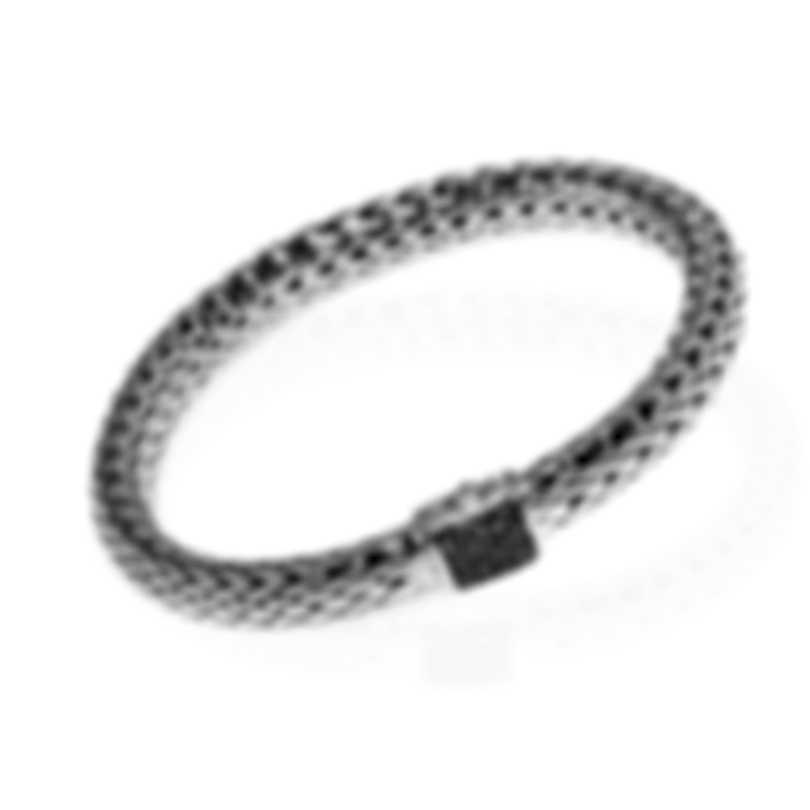 John Hardy Classic Sterling Silver And Black Sapphire Bracelet BBS90409BLSXM