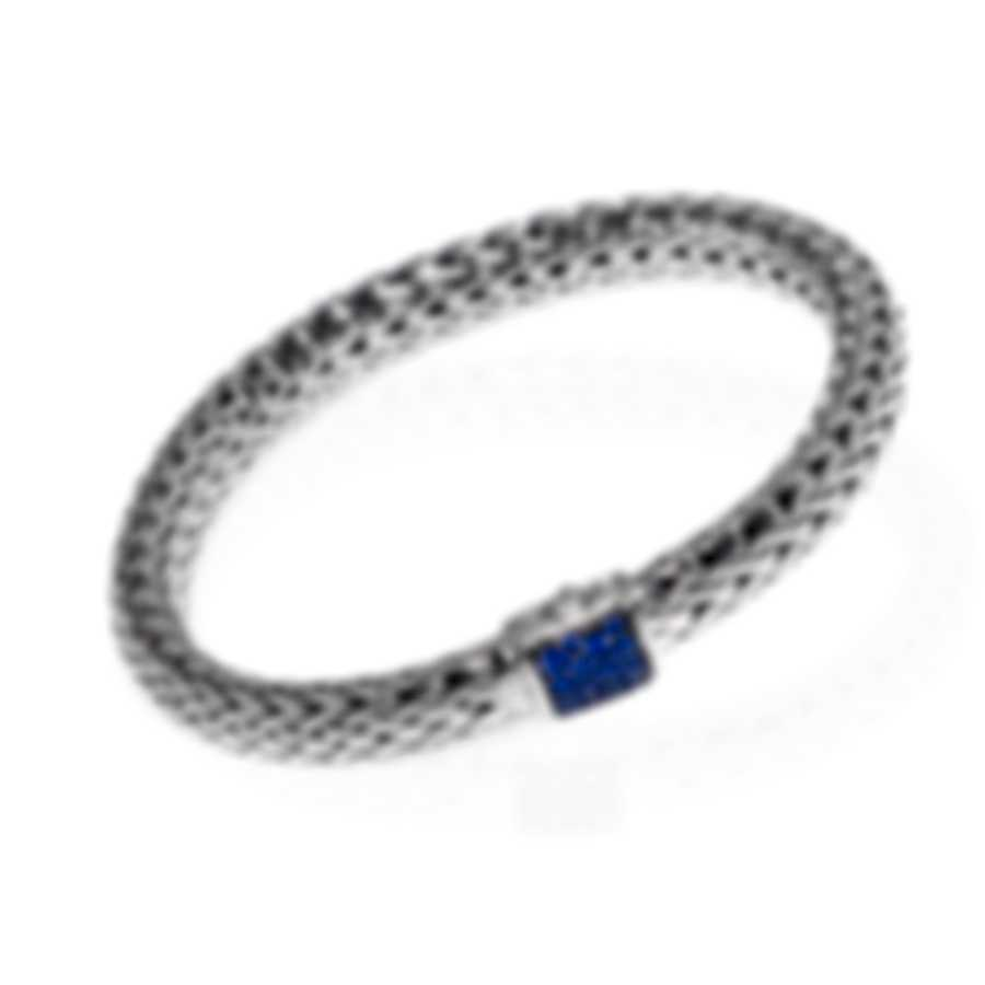 John Hardy Classic Sterling Silver And Blue Sapphire Bracelet BBS90409BSPXM