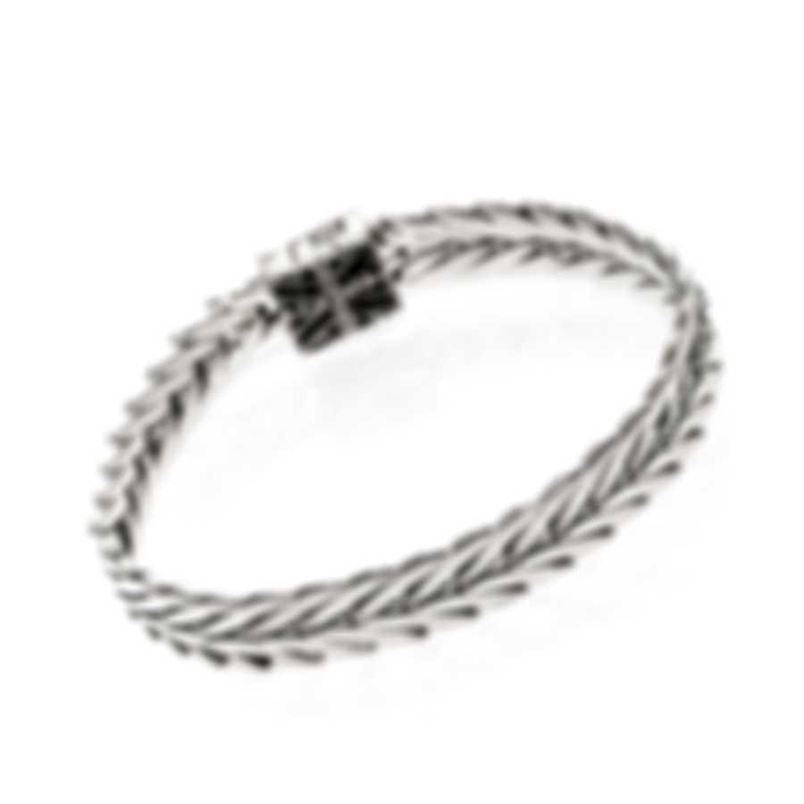 John Hardy Modern Chain Sterling Silver And Black Spinel Bracelet BBS932694BNXM