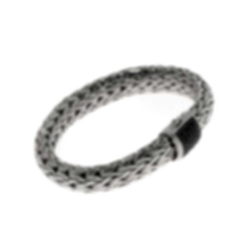 John Hardy Classic Chain Sterling Silver Black Sapphire Bracelet BBS94052BLSXM
