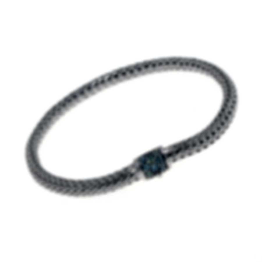 John Hardy Classic Chain Sterling Silver And Sapphire Bracelet BBS96002GYSXXL