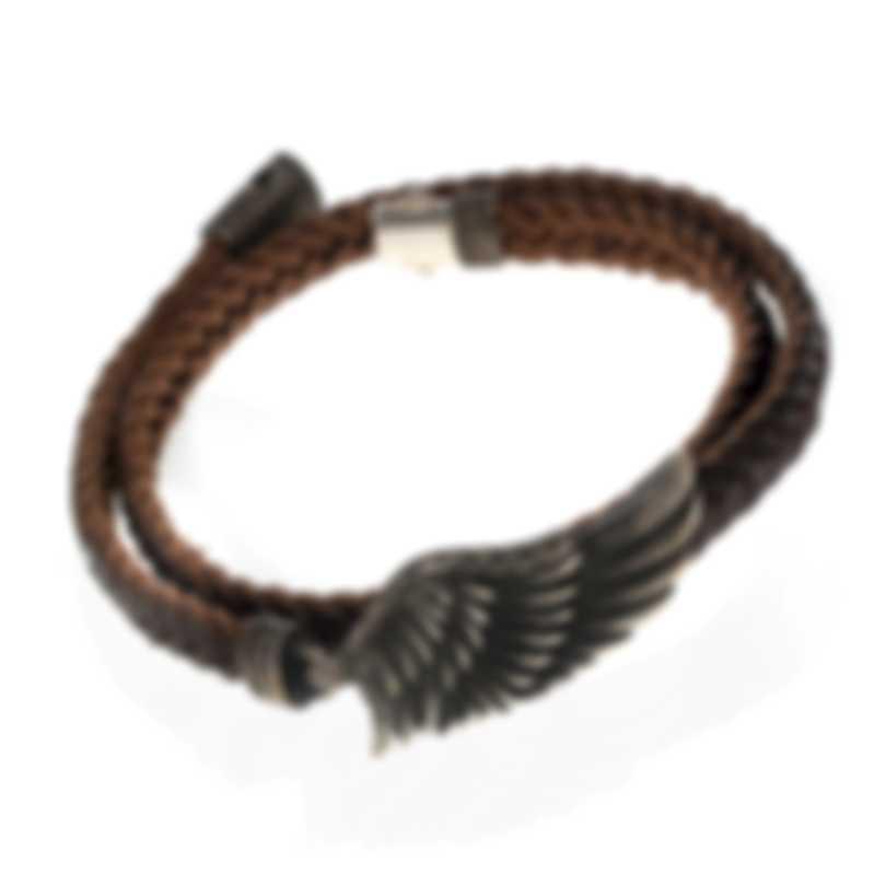 John Hardy Sterling Silver And Leather Bracelet BM90278BRXM