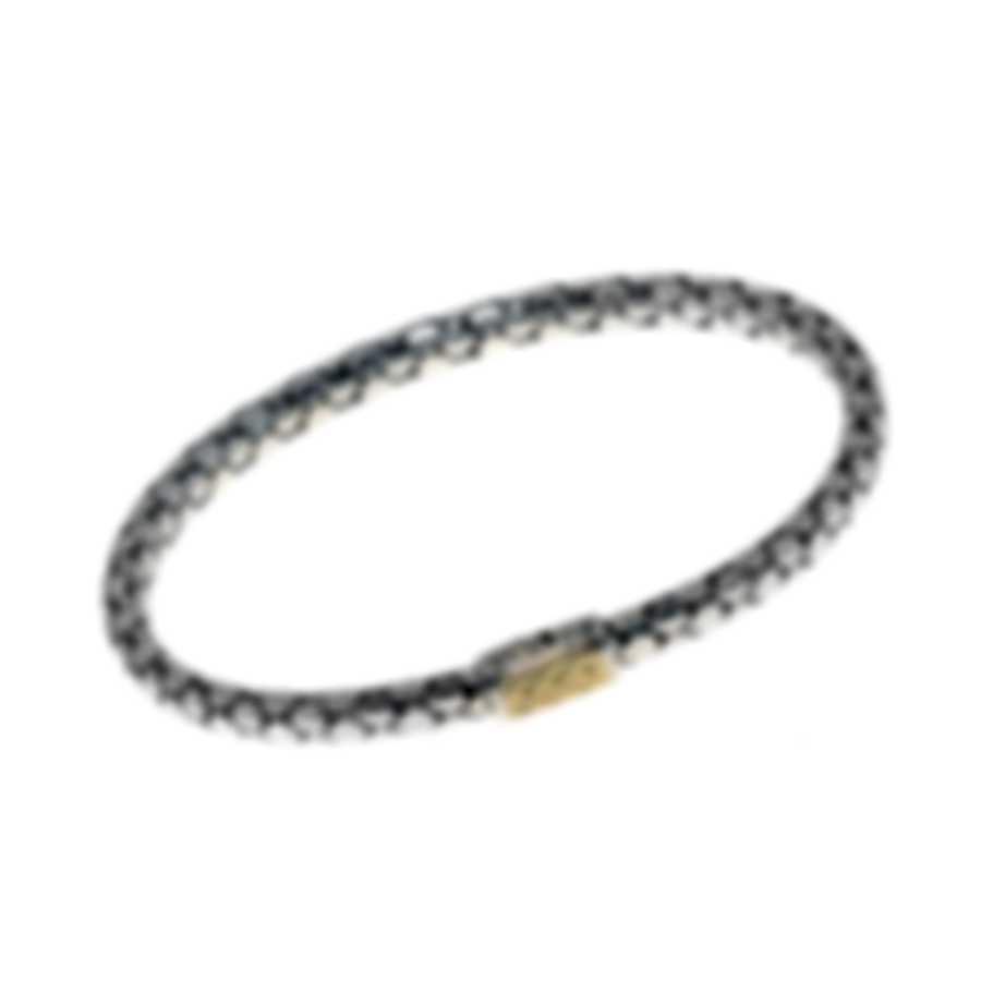 John Hardy Dot Sterling Silver And 18k Yellow Gold Bracelet BZ3910XM
