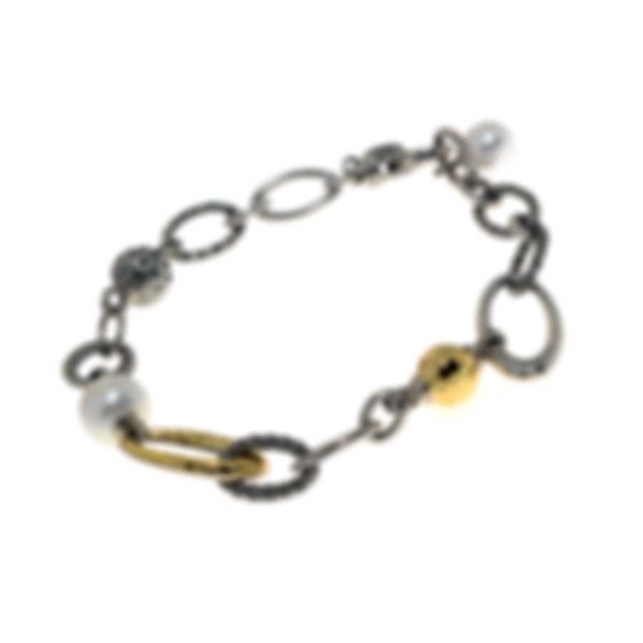John Hardy Classic Chain Sterling Silver And Pearl Bracelet BZ900458XM