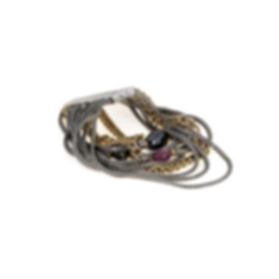 John Hardy Classic Chain Adwoa 18k Yellow Gold And Sterling Silver Bracelet BZS903211MIRUHEXM