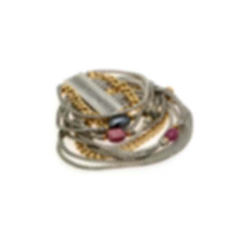 John Hardy Sterling Silver And 18k Yellow Gold Classic Chain Adwoa Bracelet BZS903211MIRUHEXS