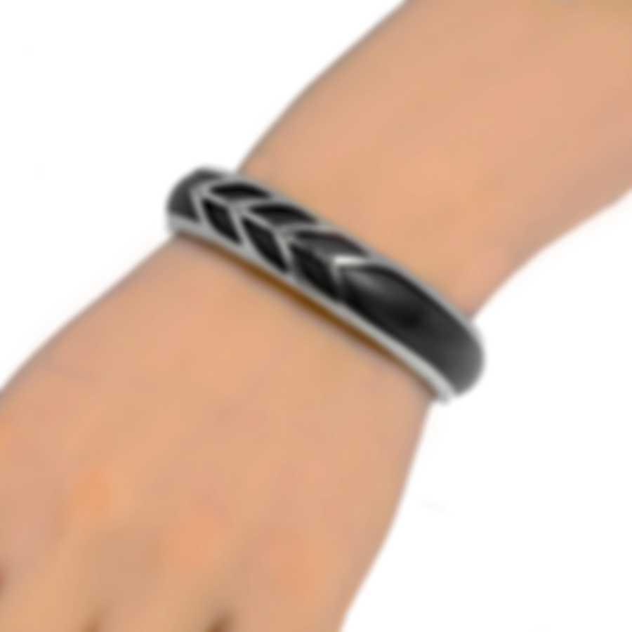 John Hardy Modern Chain Sterling Silver And Leather Bracelet CB90335GYXM