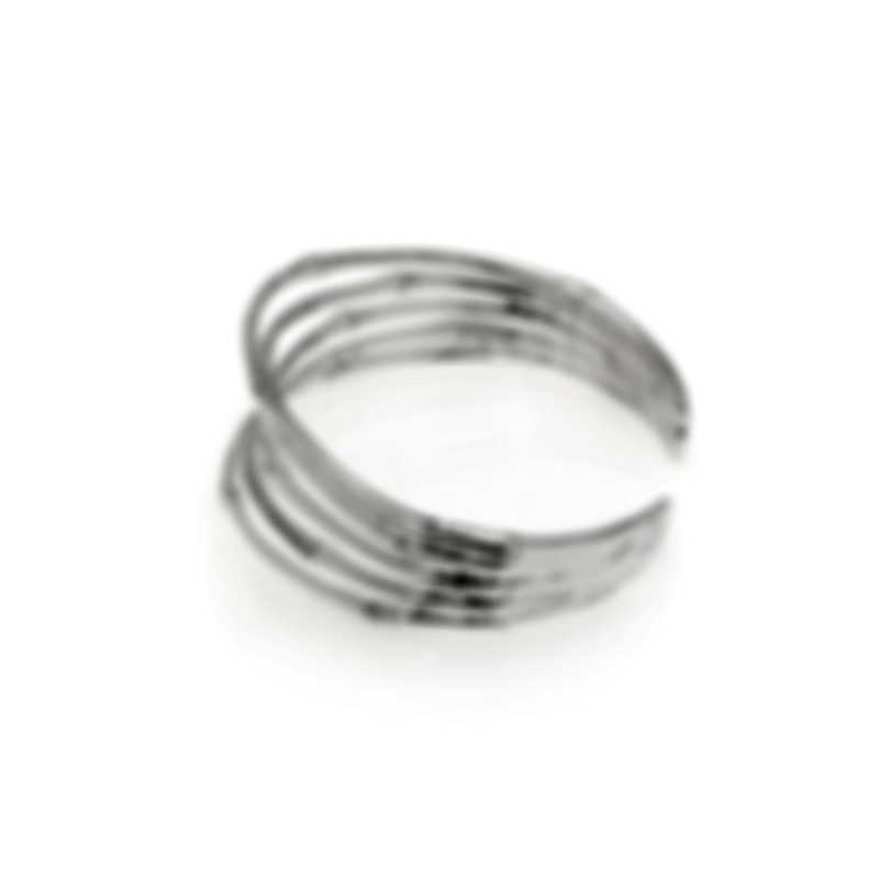 John Hardy Sterling Silver And Diamond Bamboo Bracelet CBP57672DIXM