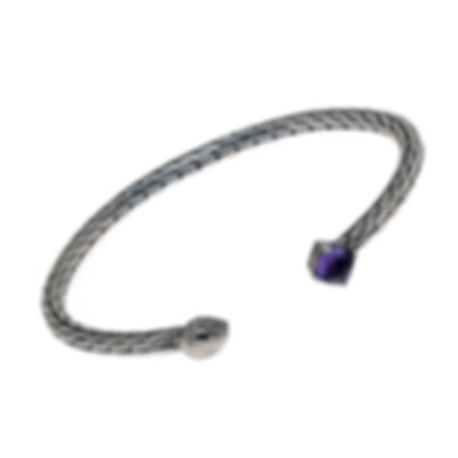 John Hardy Classic Chain Sterling Silver And Amethyst Bracelet CBS903501AMXS-M