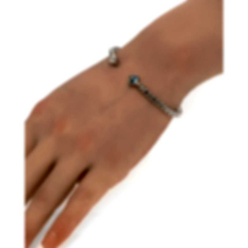 John Hardy Classic Chain Sterling Silver Blue Topaz Bracelet CBS903501SBTXM-L