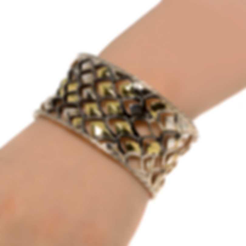 John Hardy Legends Naga Sterling Silver And 18k Yellow Gold Bracelet CZ60162XM