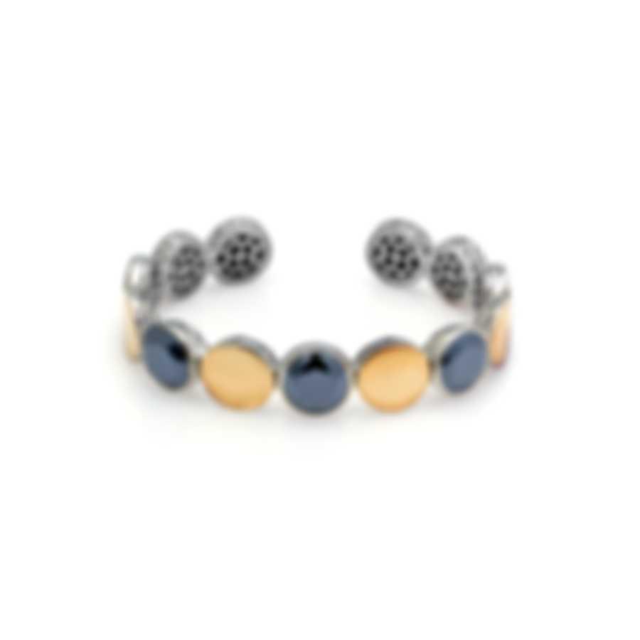 John Hardy Sterling Silver And 18k Yellow Gold And Citrine Dot Bracelet CZS343021CIXM