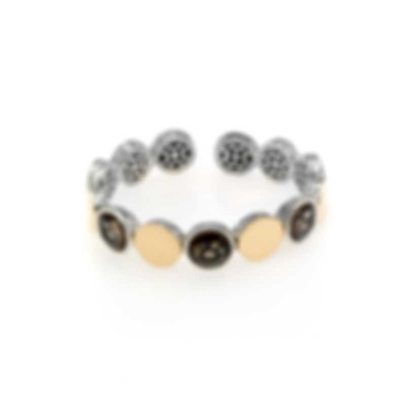 John Hardy Sterling Silver & 18k Gold Smoky Quartz Dot Bracelet CZS343021SQXM