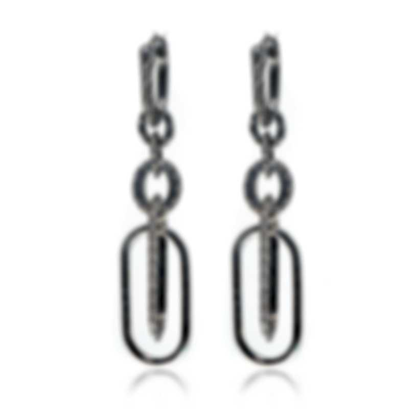 John Hardy Classic Chain Sterling Silver Earrings EB900373