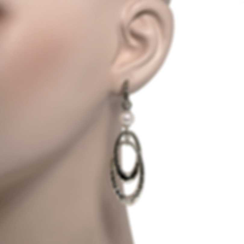John Hardy Classic Chain Sterling Silver And Pearl Earrings EB900464