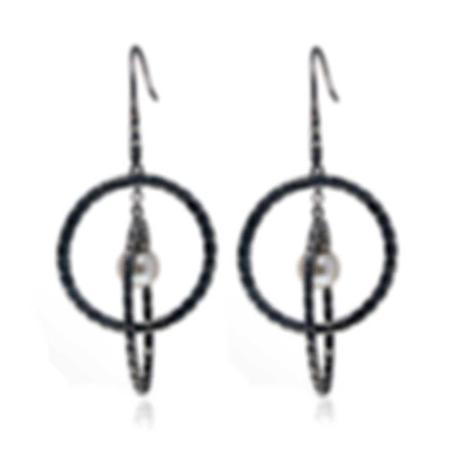John Hardy Orbit Sterling Silver And Pearl Earrings EB90663