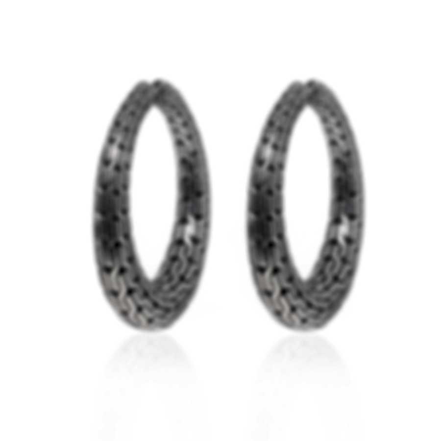John Hardy Classic Chain Sterling Silver Earrings EB93298