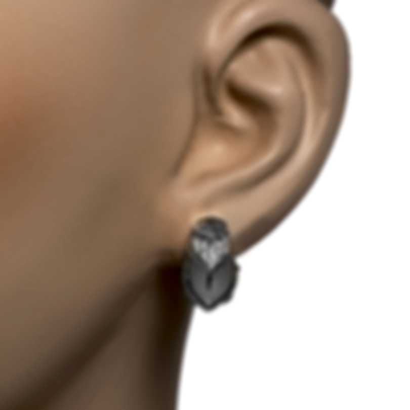 John Hardy Legends Naga Sterling Silver Diamond Earrings EBP66452DI