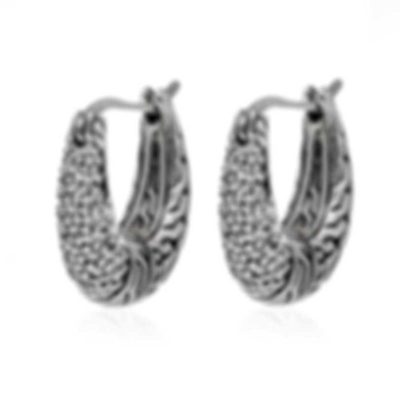 John Hardy Classic Chain Sterling Silver Diamond 0.30ct Earrings EBP900432DI
