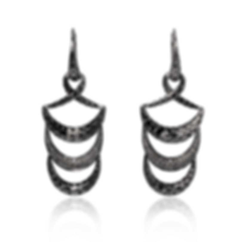 John Hardy Classic Chain Sterling Silver Diamond 0.32ct Earrings EBP9997402DI