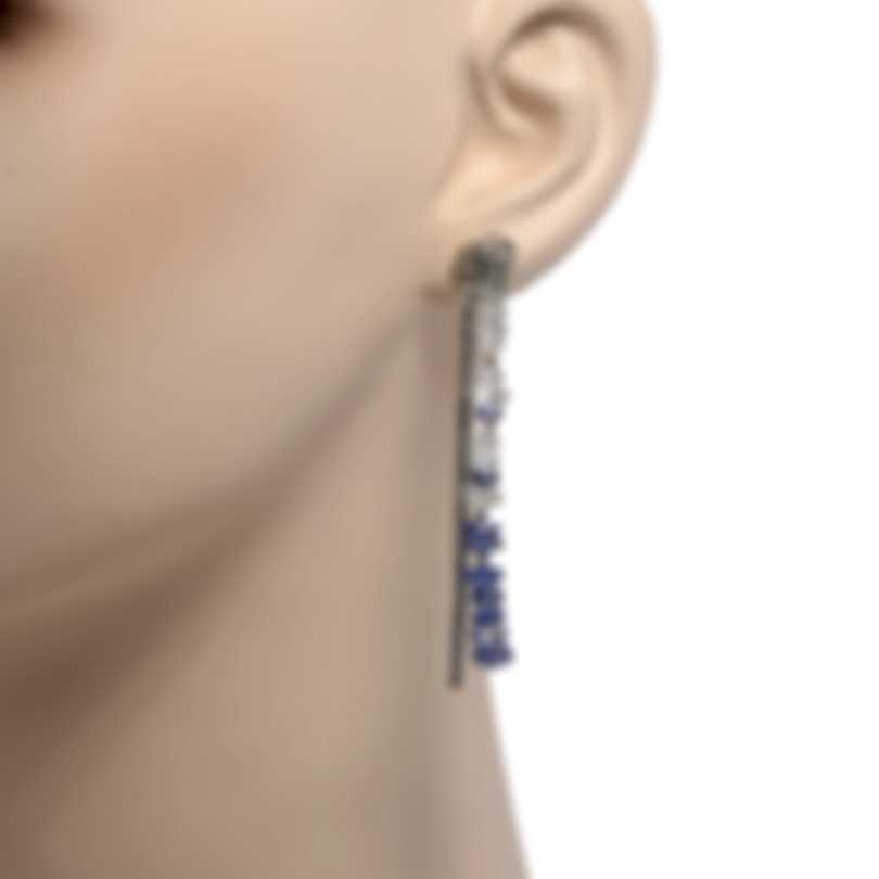 John Hardy Classic Chain Sterling Silver And Aquamarine Earrings EBS902424AQKN
