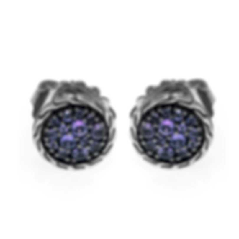 John Hardy Classic Chain Sterling Silver And Amethyst Earrings EBS903934AM