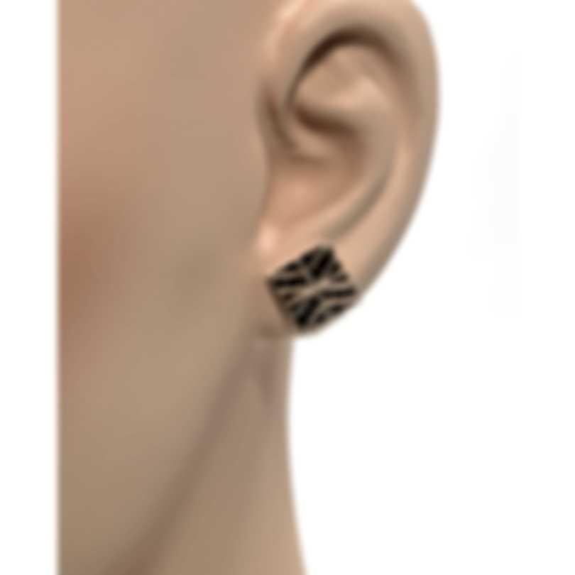 John Hardy Modern Chain Sterling Silver And Black Spinel Earrings EBS933144BLS