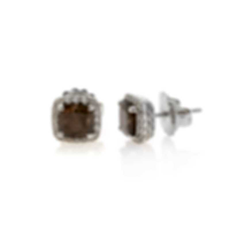 John Hardy Sterling Silver Diamond 0.33ct & Sapphire Chain Earrings EBS971551GSSPDI