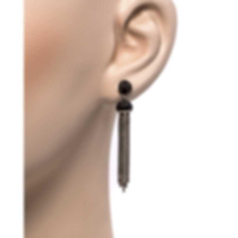 John Hardy Classic Chain Sterling Silver Black Spinel Earrings EBS9997114BLSBN
