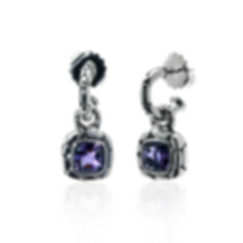 John Hardy Sterling Silver And Amethyst Kali Earrings EBS20173AM