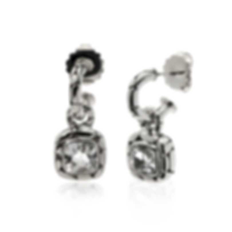 John Hardy Sterling Silver And White Topaz Kali Earrings EBS20173WT